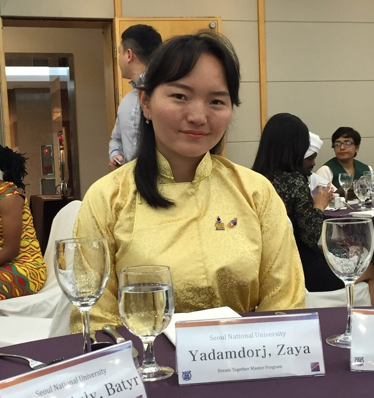 Zaya at the 2017 DTM Welcome dinner