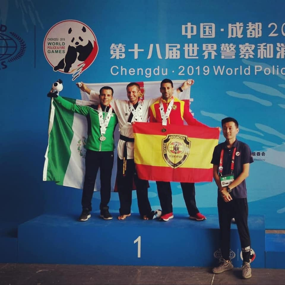Alberto Sierra, Bronze Medal World Police and Fire Games, Chengdu, China 2019
