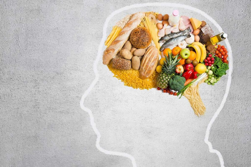 healthy nutrition balance in the mind