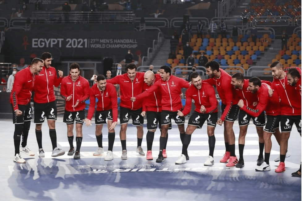 The team of Egypt at the Game with Chile