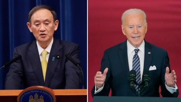 Премьер-министр Японии Ёсихидэ Суга и президент США Джо Байден