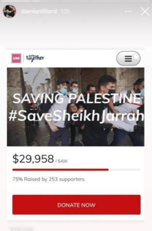 Damian Lillard saving Palestine